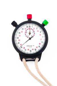 image of a stopwatch over white background