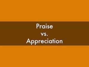 praise :appreciation